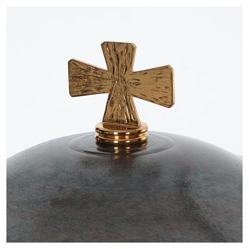 Fonte battesimale moderno in bronzo 3