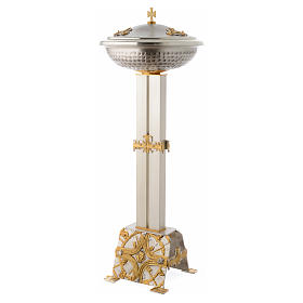 Baptismal font in gold and silver plated bronze s4