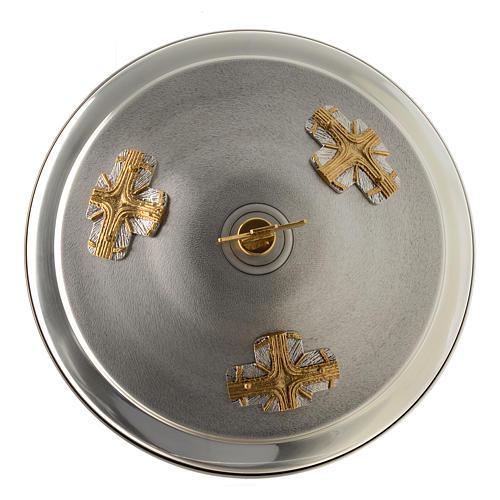 Fuente bautismal de bronce dorado y plateado 5