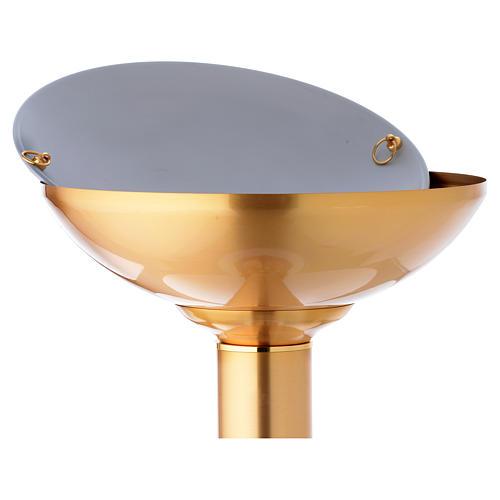 Font baptismal doré décoration bleu 6