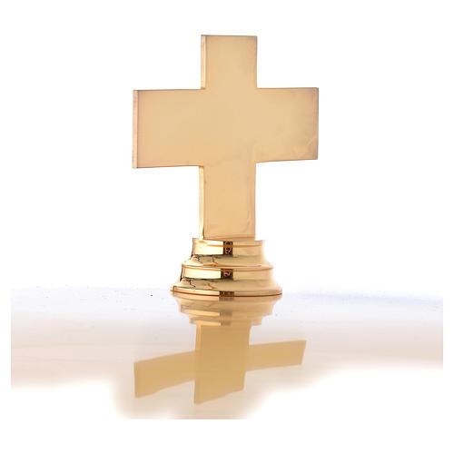 Fonte Battesimale dorata decoro blu laccato 3