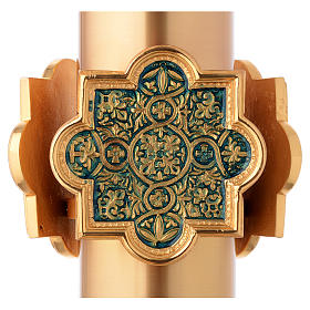 Baptismal Font gold plated with blue nickel decorations s4