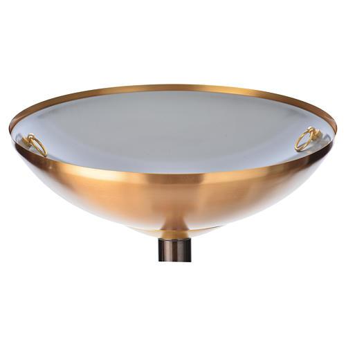 Baptismal font in hammered brass 5