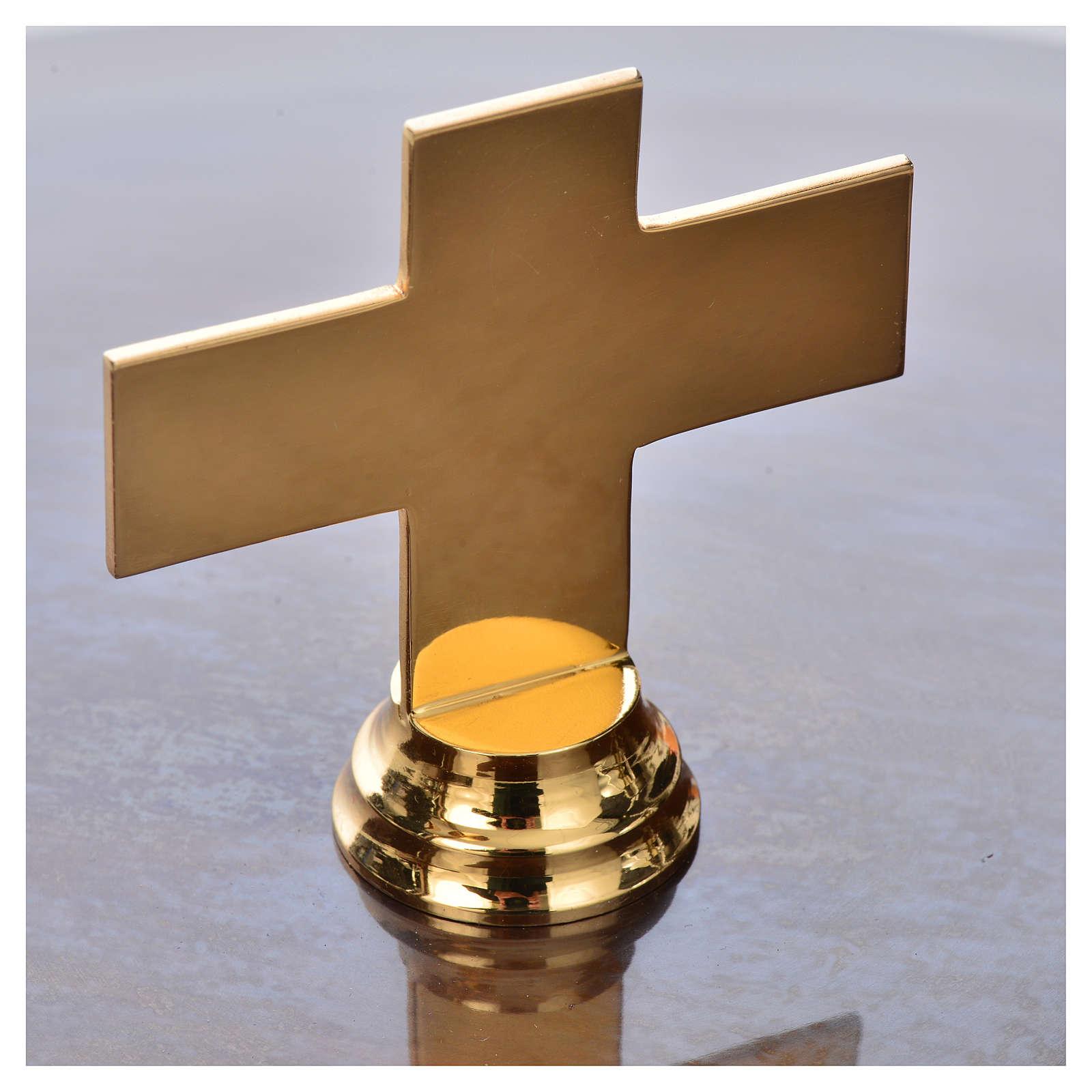 Pila bautismal de latón martillado 4