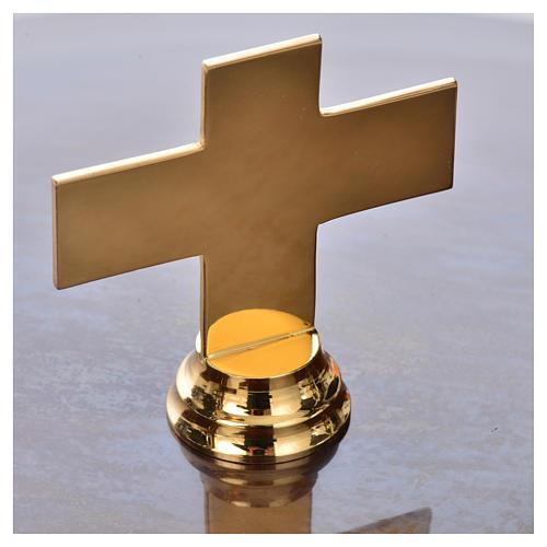 Pila bautismal de latón martillado 8
