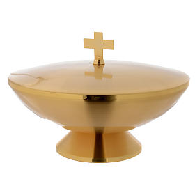 Baptismal font for altar, golden s1