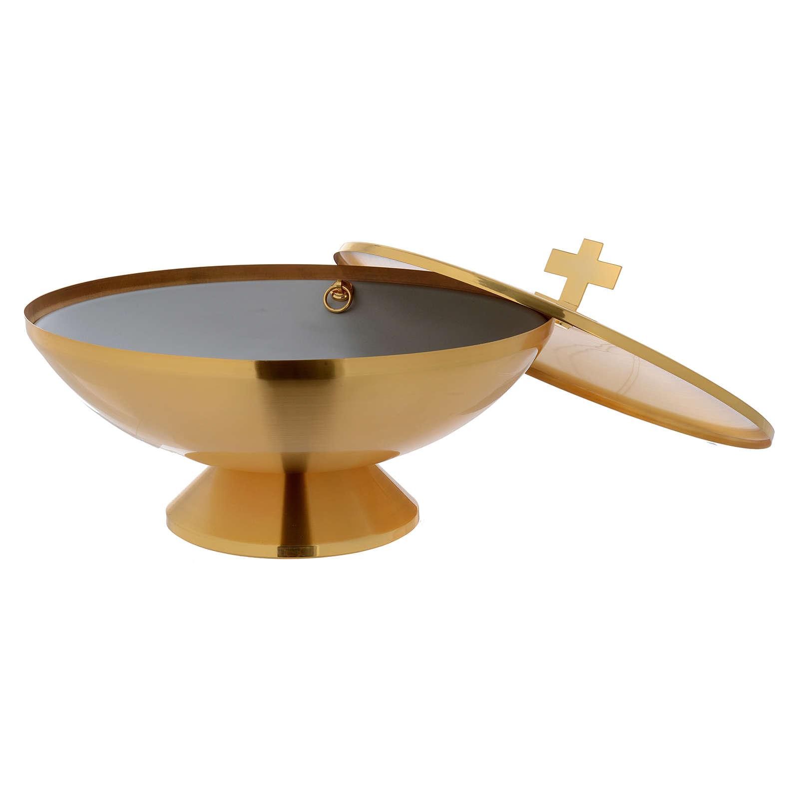 Fonte Battesimale da tavolo dorata 4