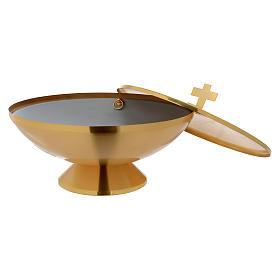 Fonte Battesimale da tavolo dorata s2