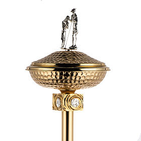 Baptismal font in gold-plated brass s2