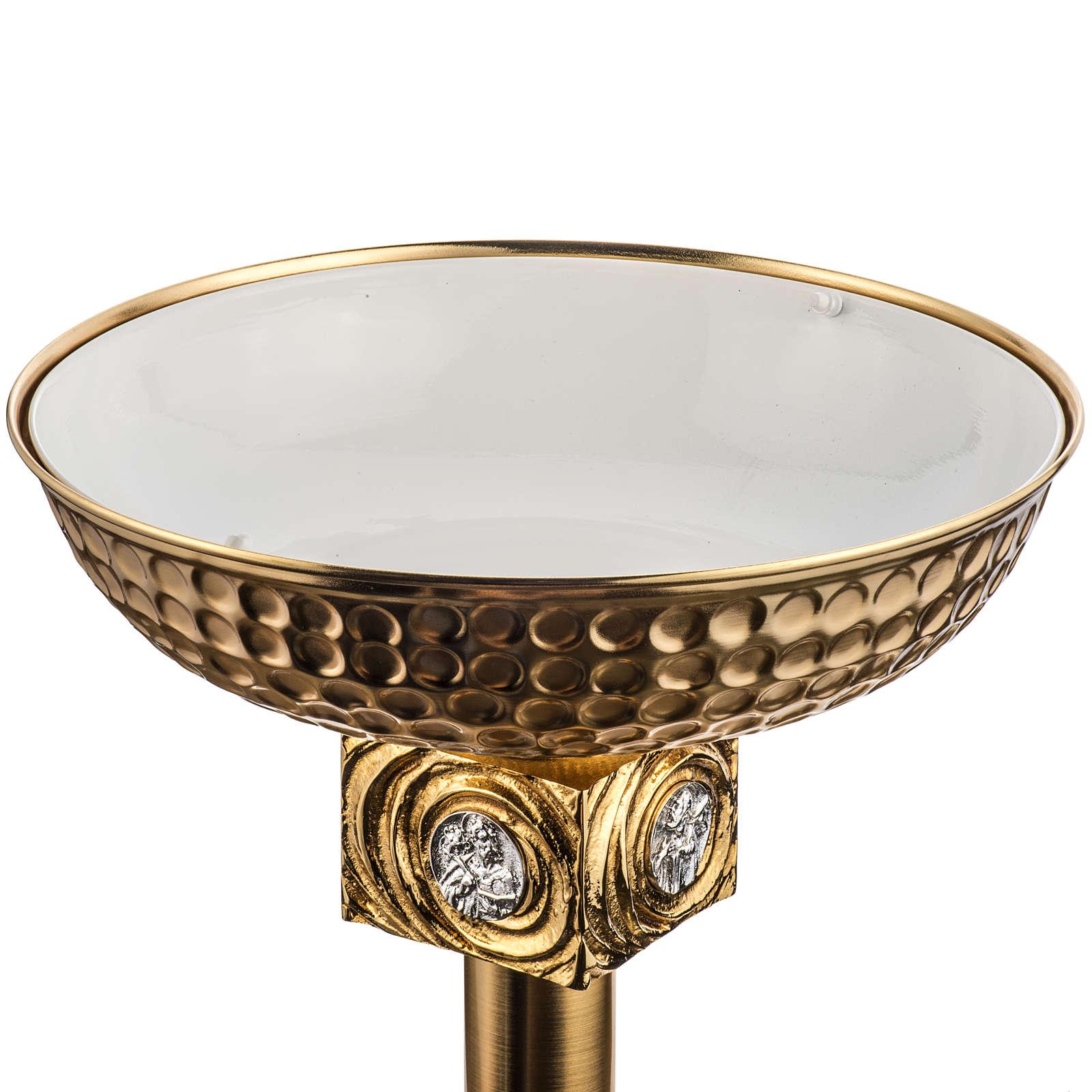 Font baptismal en laiton fondu doré 4