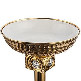 Font baptismal en laiton fondu doré s9