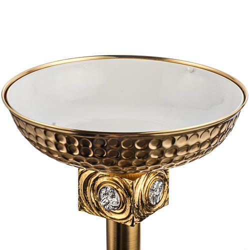 Font baptismal en laiton fondu doré 9