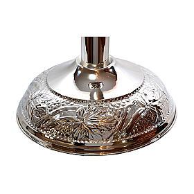 Fonte Battesimale grappoli e foglie ottone argentato s3