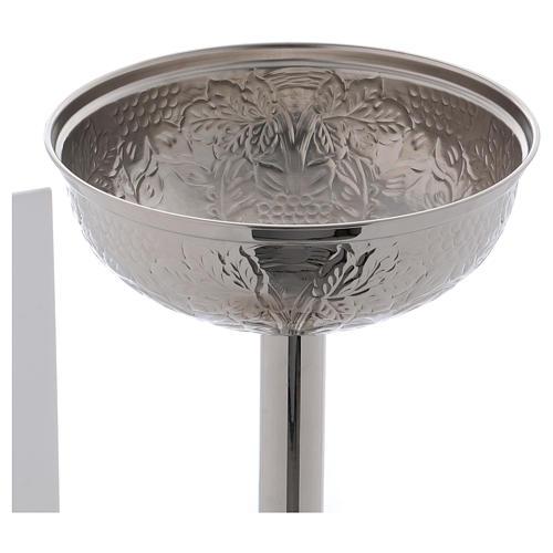 Fonte Battesimale grappoli e foglie ottone argentato 6