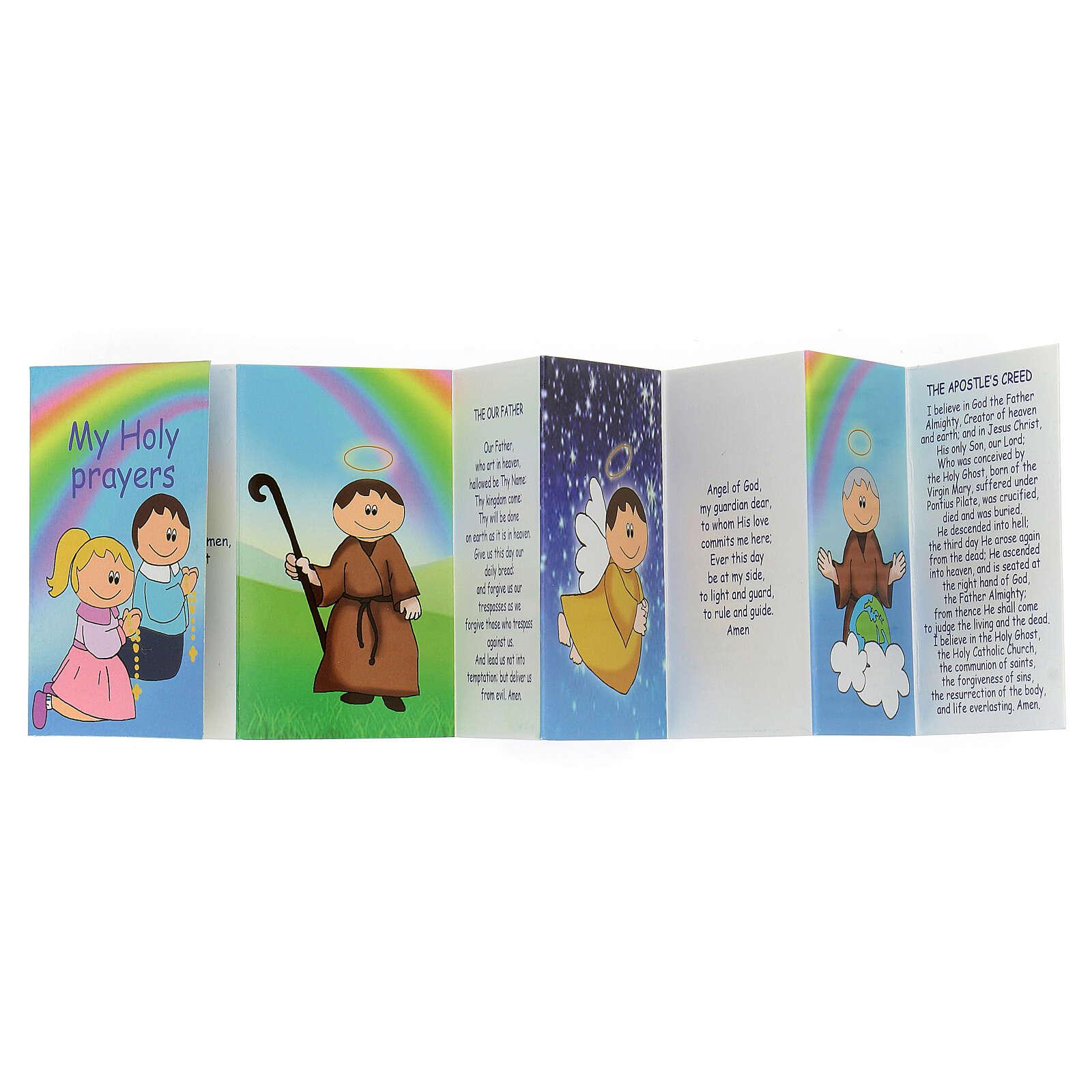 Rosario legno multicolor grani 15 mm con libretto in inglese 4