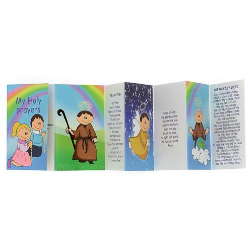 Rosario legno multicolor grani 15 mm con libretto in inglese 3