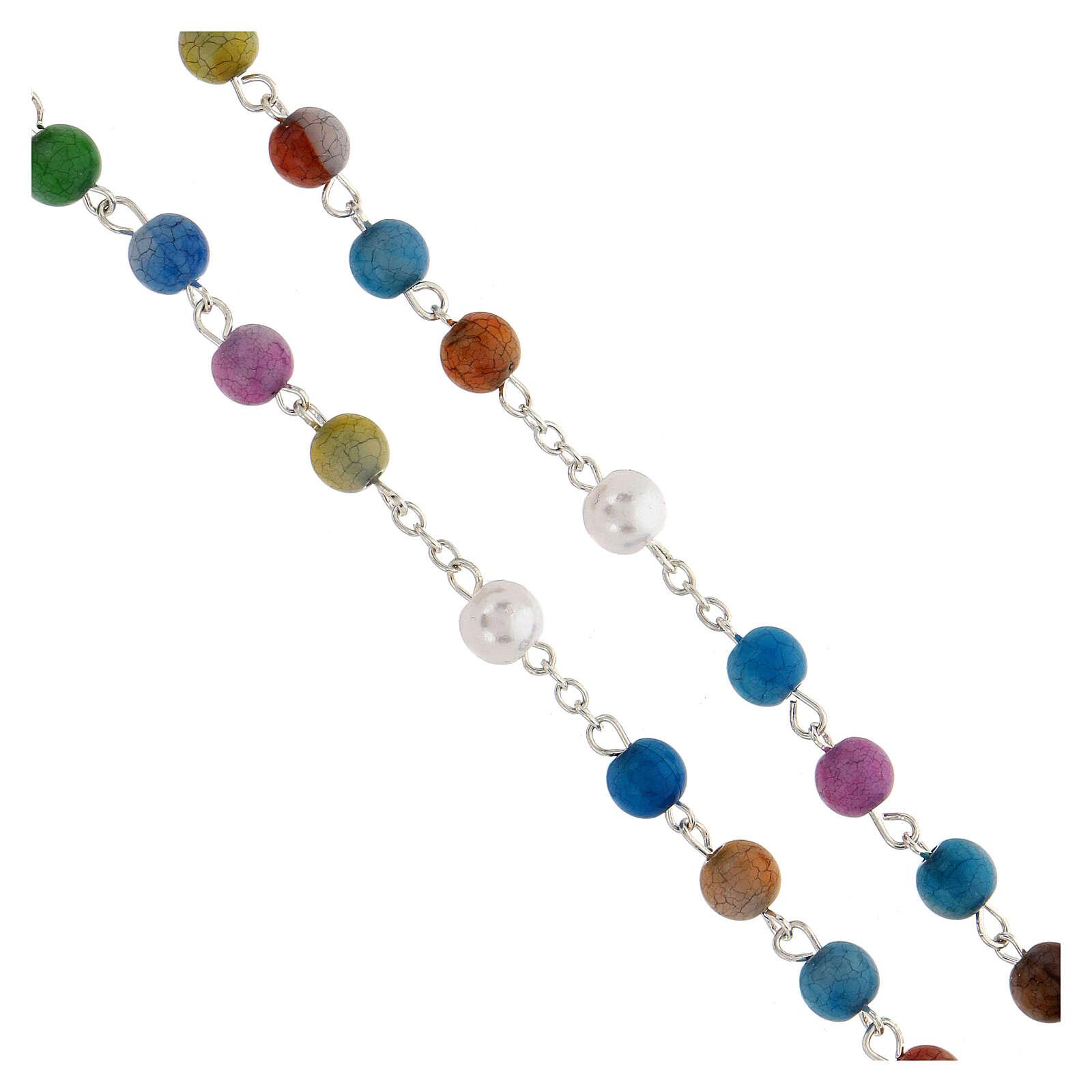 Rosario grani acrilici multicolor 8mm 4