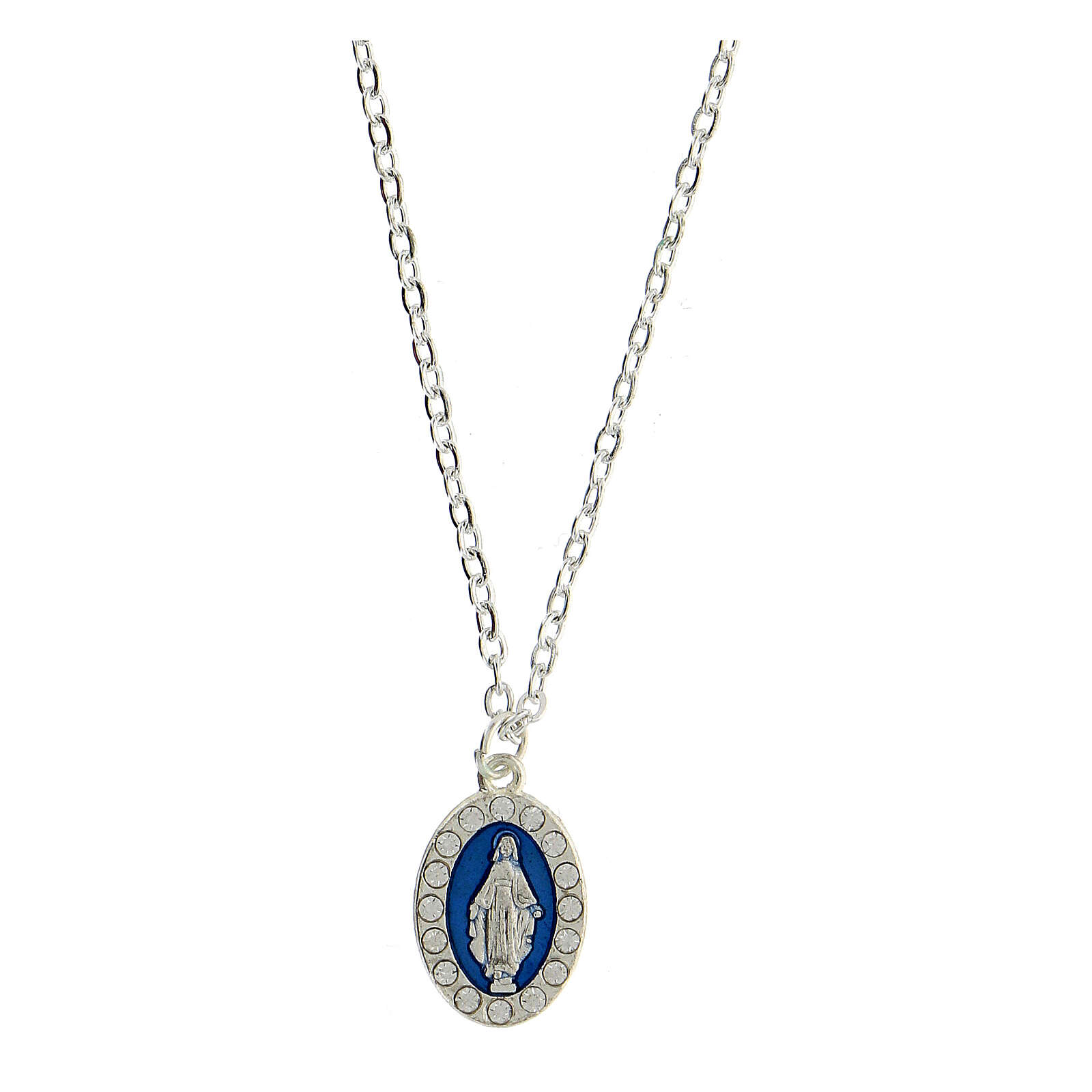 Necklace with Miraculous medal and English card 4