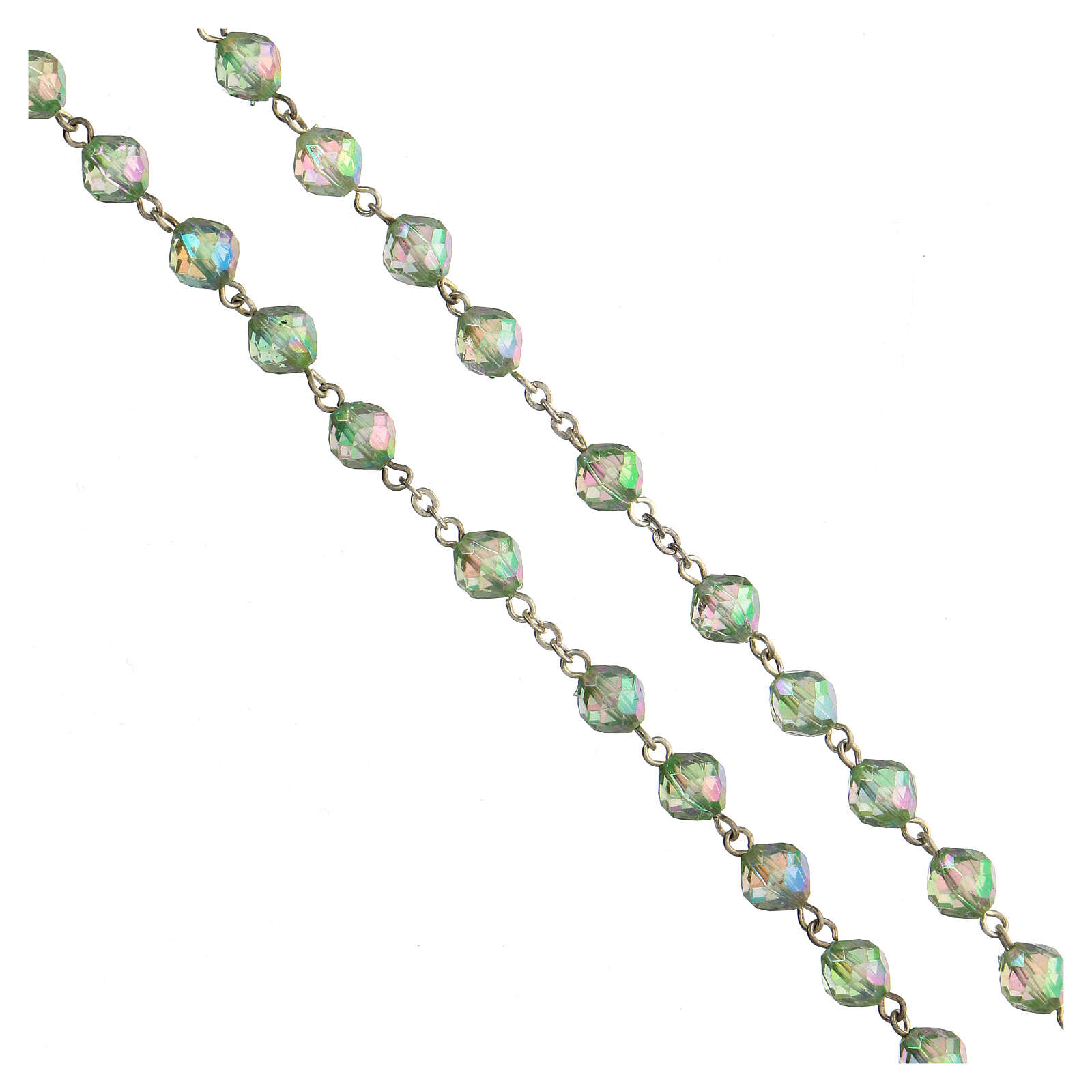 Rosario grani acrilici verdi 8 mm 4
