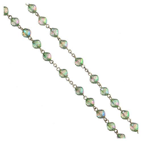 Rosario grani acrilici verdi 8 mm 3