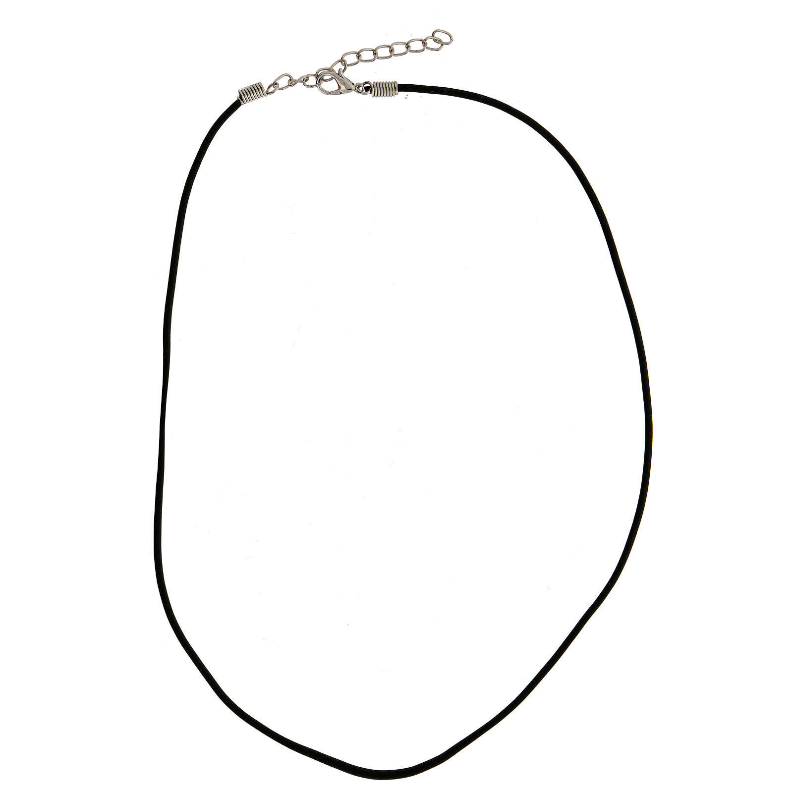 Black rubber necklace with snap hook 4