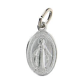 Medaglia Miracolosa alluminio argentata 14x10 mm