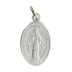 Medalha Milagrosa prateada alumínio anodizado 18x13 mm