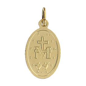 Medaglia miracolosa in alluminio anodizzato dorata 18x13 mm