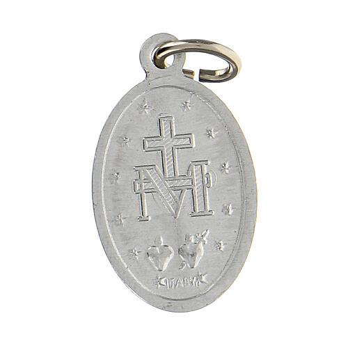 Medalla milagrosa plata esmalte azul 18x13 mm