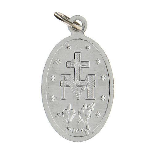 Medalla milagrosa aluminio anodizado 22x15 mm