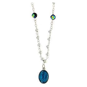 Collana cristallo medaglia Miracolosa Lourdes 1,5 cm
