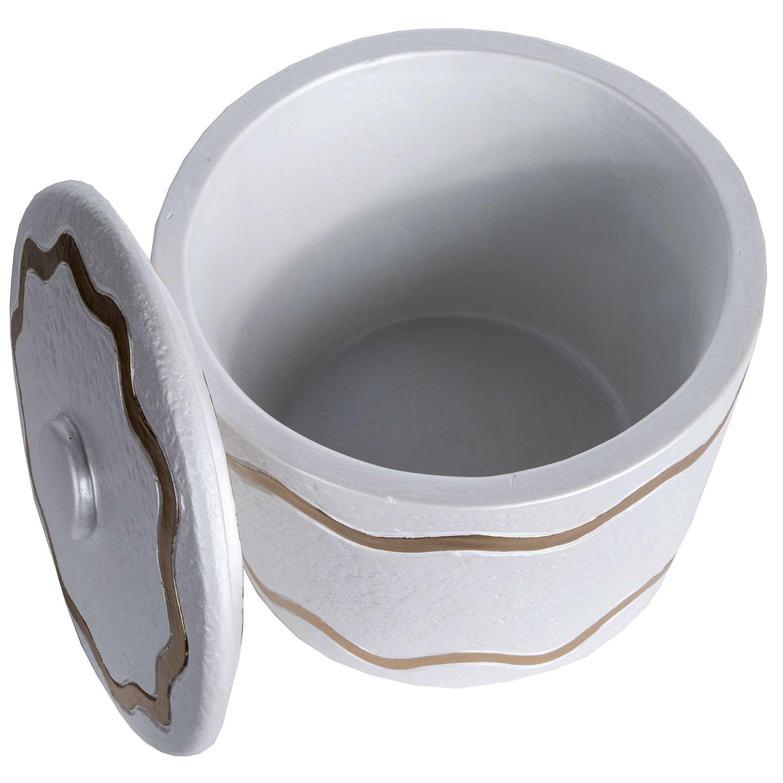 Urna funeraria marmo sintetico finitura madreperlata dorata 3