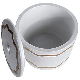Urna funeraria marmo sintetico finitura madreperlata dorata s4