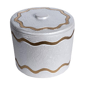 Cremation urn, synthetic marble with golden iridescent finish s1