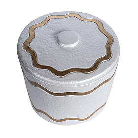 Cremation urn, synthetic marble with golden iridescent finish s2