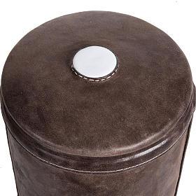 Urne funéraire marbre recouverte en cuir s2