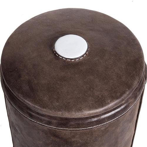Urne funéraire marbre recouverte en cuir 2
