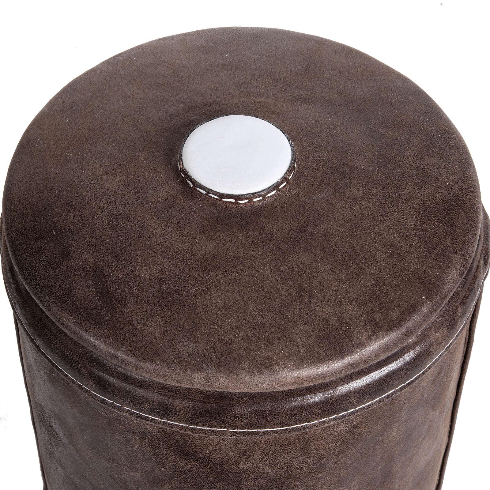 Urna cineraria marmo sintetico rivestita in nappa 3