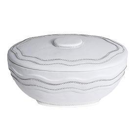 Urna cineraria tonda marmo sintetico bianca fili Swarovski s1