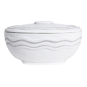 Cremation urn, round, in marble, white with Swarovski s5