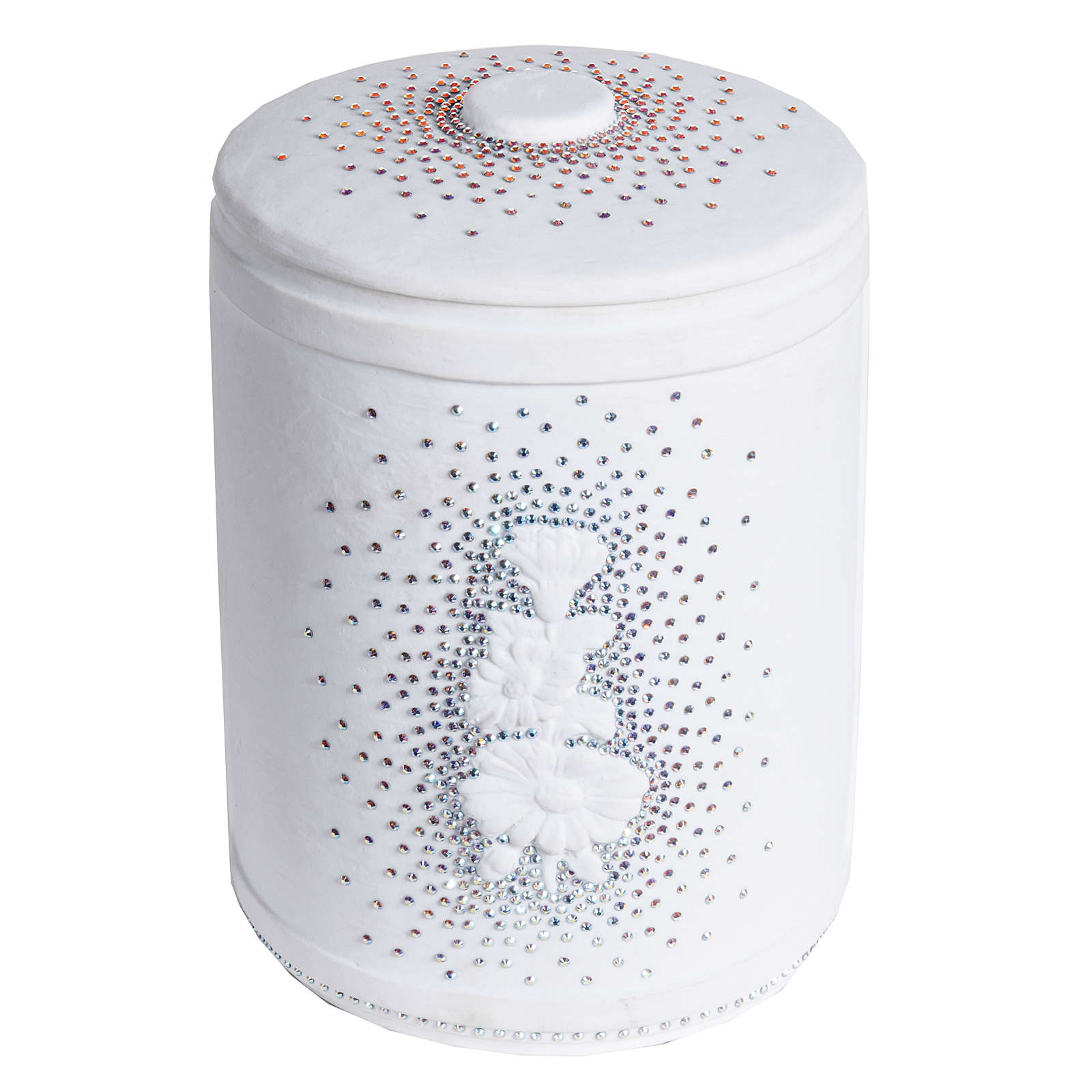 Cremation urn in synthetic marble with Swarovski crystals 3