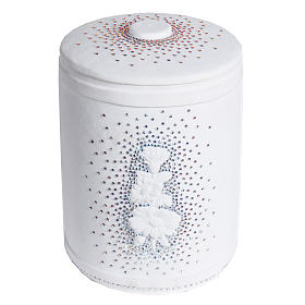 Cremation urn in synthetic marble with Swarovski crystals s1