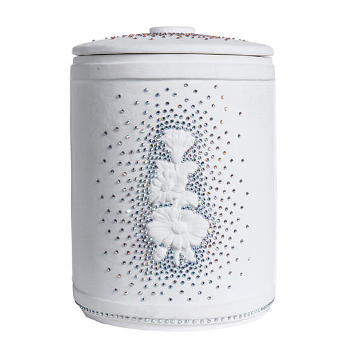 Cremation urn in synthetic marble with Swarovski crystals 4