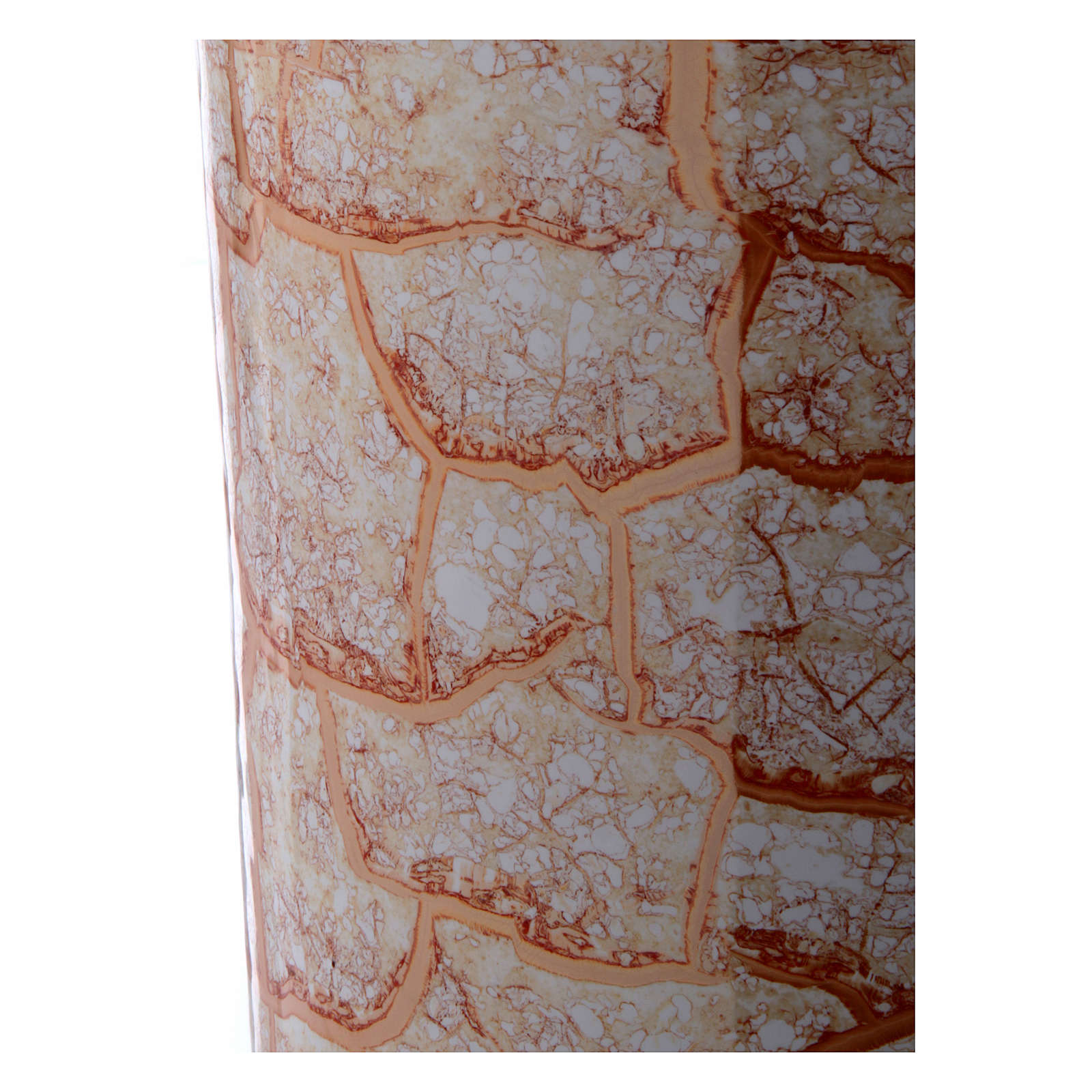 Urna cineraria ceramica con pomelli bianco oro 3