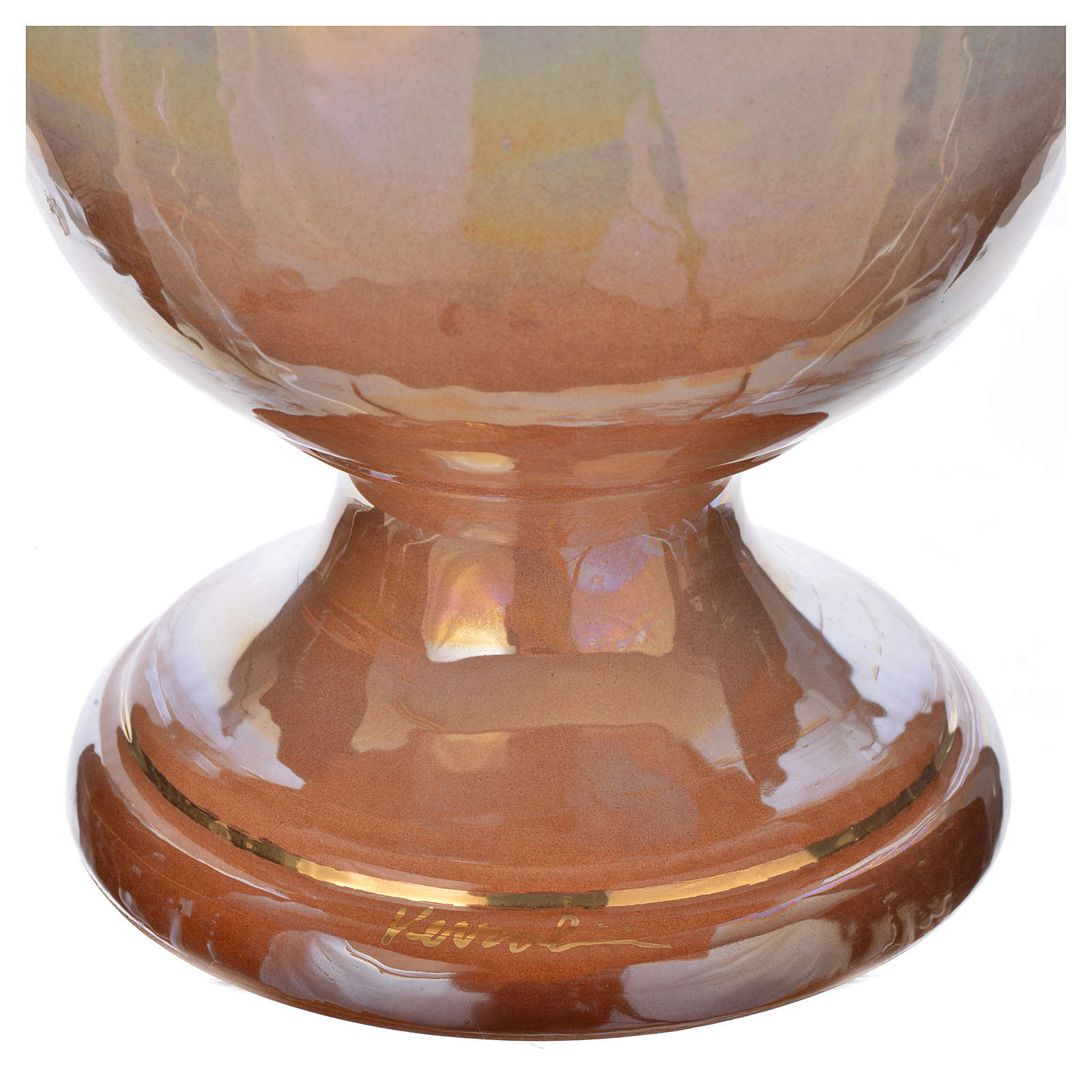 Urna cineraria in ceramica iris con croce 3