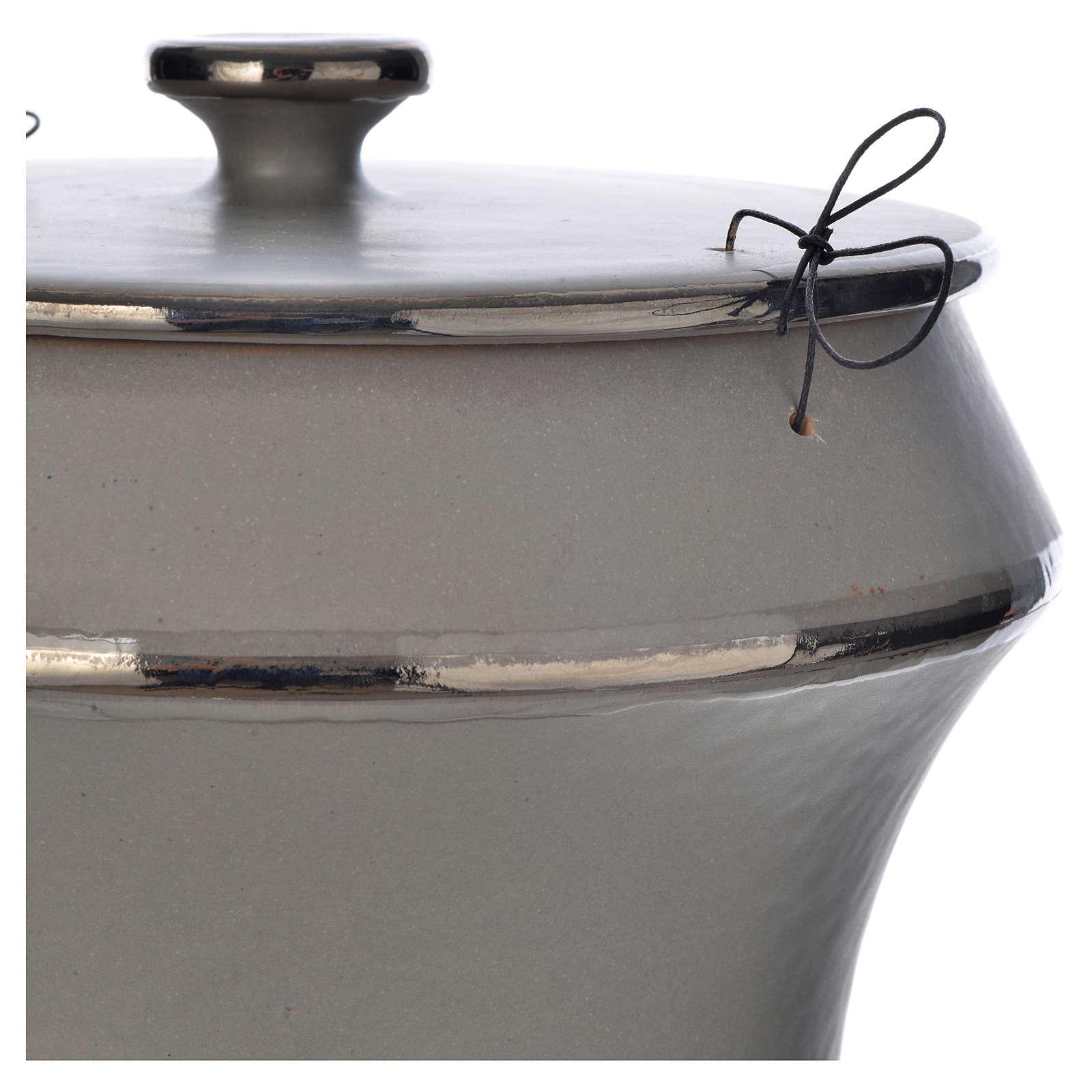 Urne funéraire en céramique gris clair 3