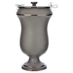 Urne funéraire en céramique gris clair s1