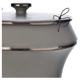 Urna cineraria in ceramica grigio chiaro s2