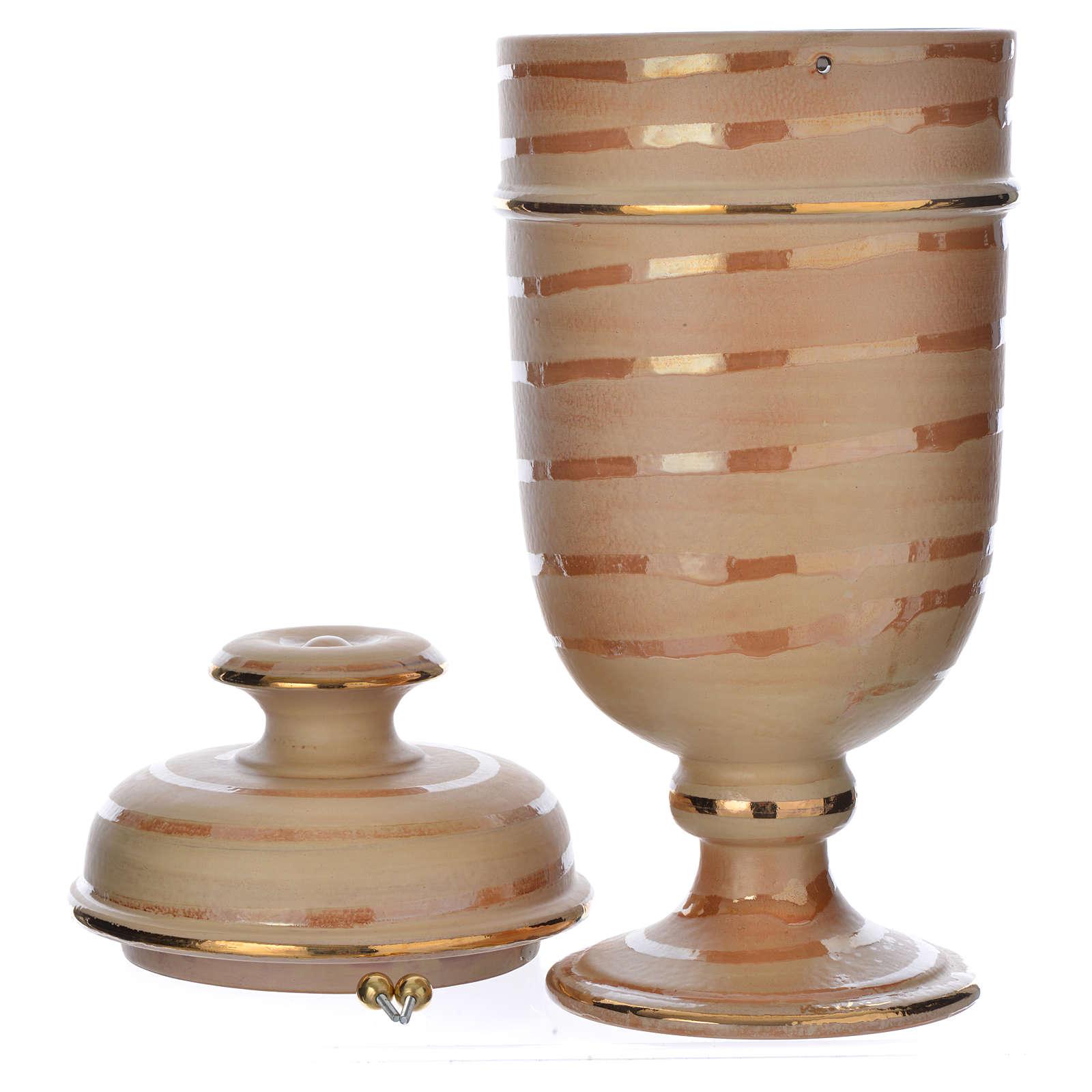 Urna cineraria ceramica color terra 3