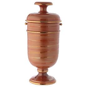 Urna cineraria ceramica color terra s1